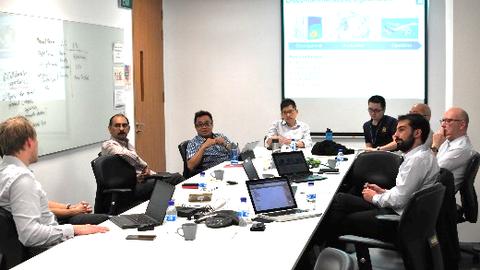 ILK-Mitarbeiter diskutieren mit NTU-Vertretern zu Virtuellen Zwillingen