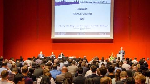 Impressionen vom 20. Internationalen Dresdner Leichtbausymposium.
