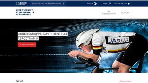 Abbildung der Website der Arbeitsgruppe