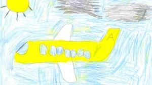 Kinderbild eines Flugzeugs