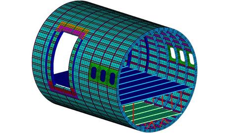Darstellung des Simulationsmodells einer Rumpftonne