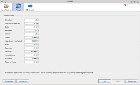 Darstellung des Formateditor für eLamX²