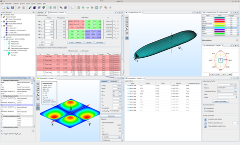 Screenshot des eLamX²-Hauptfensters