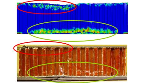 Vergleich einer Impactsimulation mit experimentellen Ergebnissen
