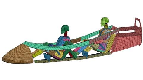 Simulationsmodell eines Segelflugzeugcockpits
