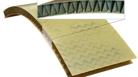 Papierartige Werkstoffe für Sandwich-Kernstrukturen - Funktionsmuster