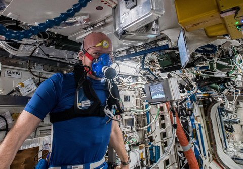 MetabolicSpace: Astronaut Alexander Gerst exercised for TU-Dresden