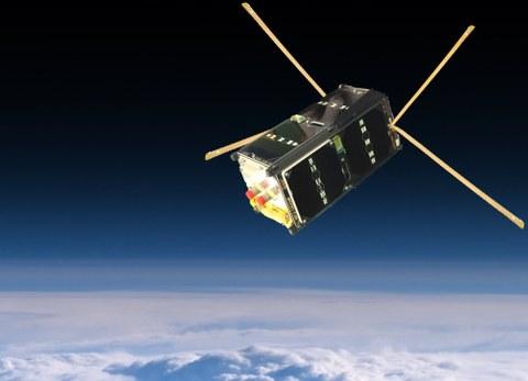 Satellit SOMP2b im Orbit