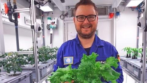 Paul Zabel im Labor Eden (DLR)