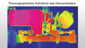 Thermografische Aufnahme eines Demostrators