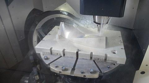 Fraesmaschine Arbeitsraum 3D