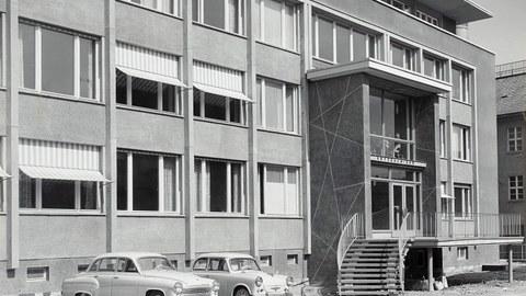 Kutzbach-Bau Eingang 1962
