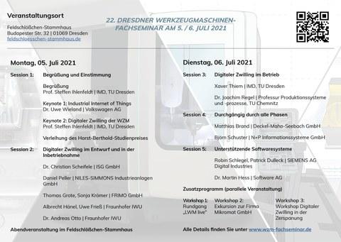 Programm des 22. WZM-Fachseminars 2021