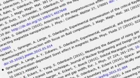 Symbolbild einer Liste der Veröffentlichungen