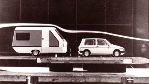 Entwürfe für Wohnwagen und PKW Trabant, 1980er Jahre
