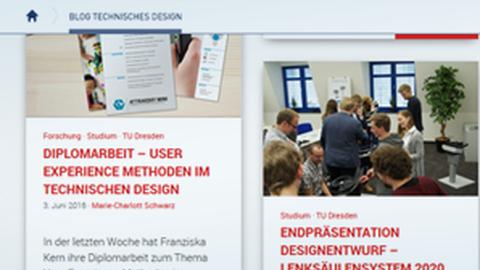 Blog Technisches Design
