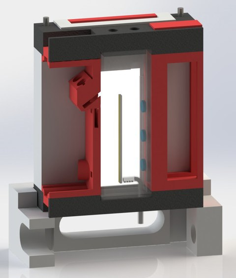 Roter 3D gedruckter Minibioreaktor