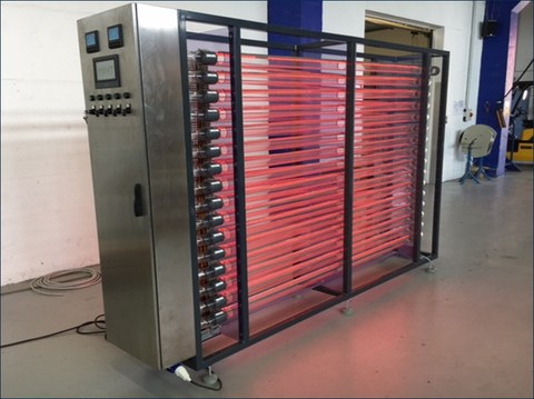Technical scale photobioreactor system (200 Liters)