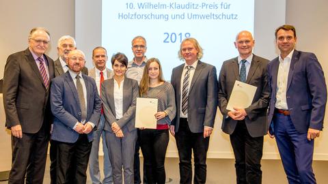 10. Wilhelm-Klauditz-Preises für Holzforschung und Umweltschutz