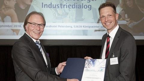 Überreichung des Preises der Stiftung Industrieforschung