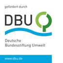 """Logo: """"gefördert durch: DBU, Deutsche bundestiftung Umwelt, ww.dbu.de"""""""