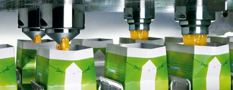 photography: filling of beverage cartons