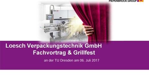Einladung Grillveranstaltung mit LoeschPack am 06. Juli