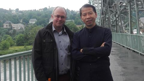 Prof. Frölich mit Prof. Wang