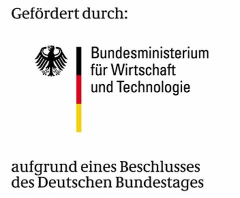 BMWi-Logo, gfördert aufgrund eines Beschlusses des deutschen Bundestages