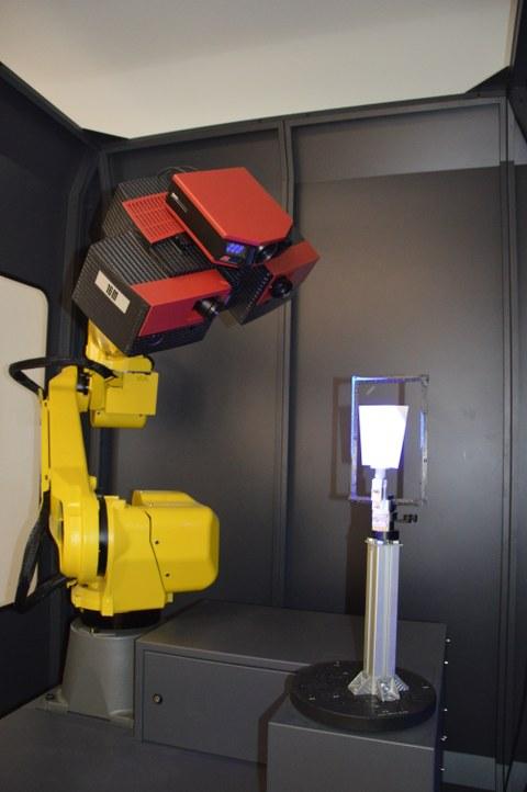 Scansystem auf Roboterarm