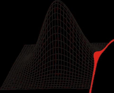 Logo des Dresdner Probabilistik Workshop in Form einer abgeschnittenen Gaußschen Glockenkurve