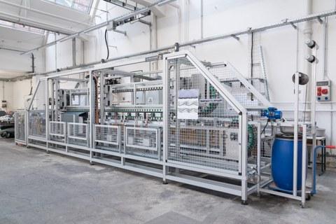 Laboranlage für profilierte Carbonpolymergarne