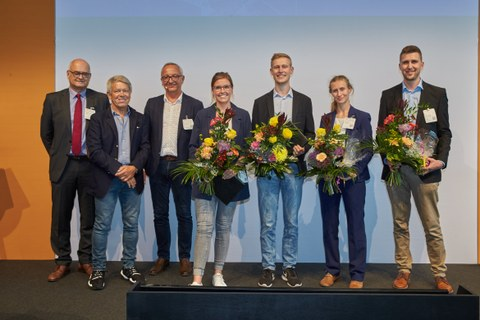 Foto mit den Preisträgern des Otto-Hänsel-Preises 2021