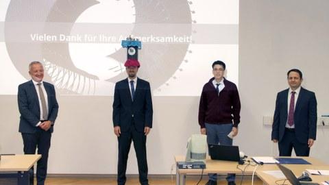 Prüfungskommission mit Herrn Dr. Franz zur Promotionsverteidigung