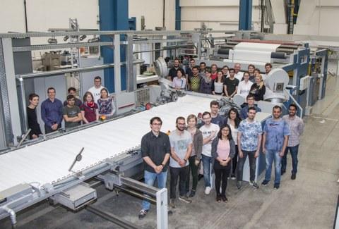 Studentengruppe des ITM bei der Firma Monforts