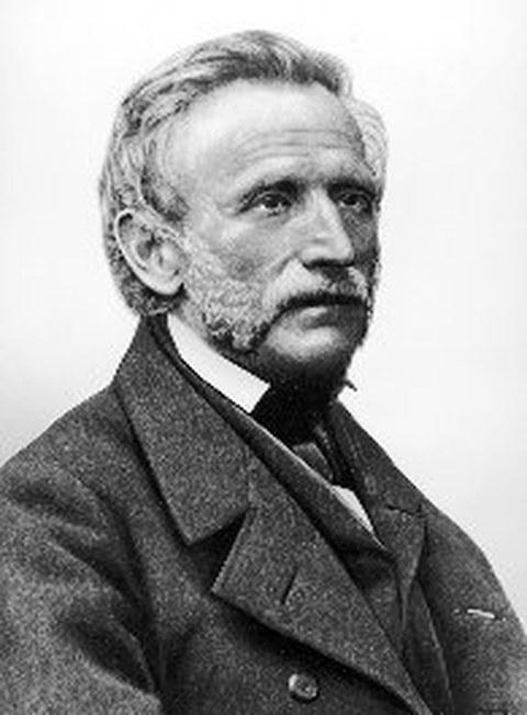 Schwarz-Weiß Porträtfoto von Professor Johann Andreas Schubert
