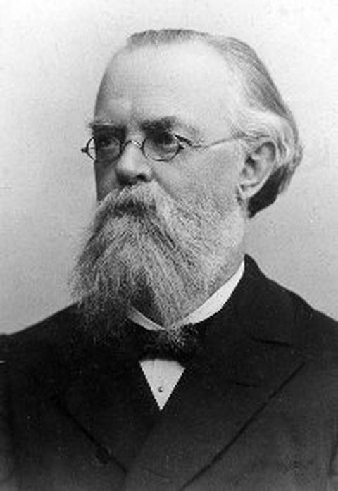 Schwarz-Weiß Porträtfoto von Professor Gustav Anton Zeuner