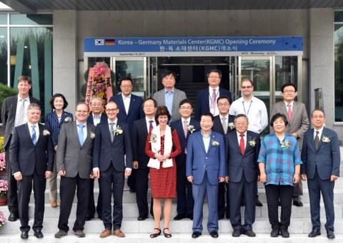 Zeremonie zur Gründung des gemeinsamen Korea-Germany Materials Center (KGMC) in Changwon, Südkorea