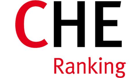 """Das Logo zeigt die Buchstaben CHE, wobei der erste Buchstabe rot und die anderen beiden grau geschrieben sind. Darunter steht in kleinen roten Buchstaben """"Ranking""""."""