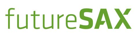 Das Logo zeigt den grün gehaltenen Schriftzug futuresax, wobei die letzten drei Buchstaben groß geschrieben sind.