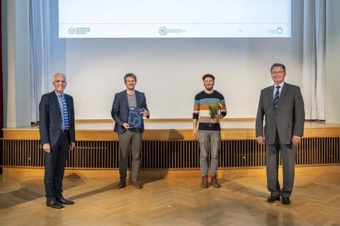 Auf dem Bild sind die Preisträger des GFF Lehrpreises zu sehen