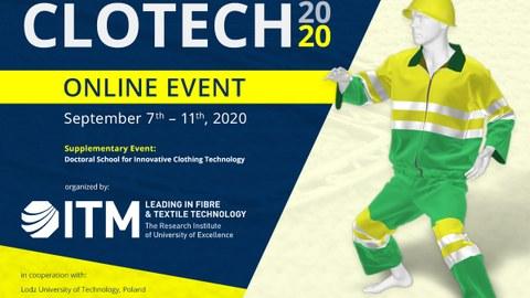 Auf dem Bild ist der Veranstaltungsbanner der CLOTECH, einer Konferenz des ITM der TU Dresden, zu sehen