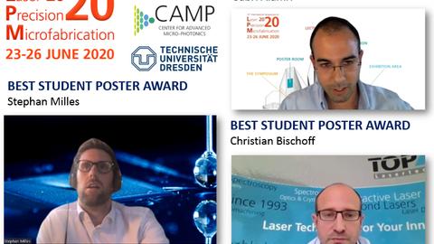 Das Bild zeigt die drei Preisträger des Symposiums