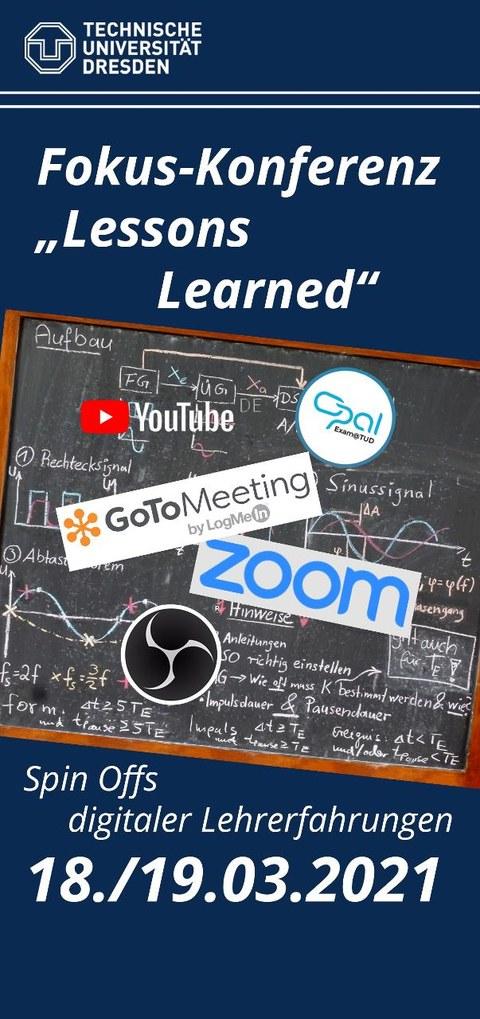 Auf dem Bild ist der Flyer zur Konferenz Lessons Learned 2 zu sehen