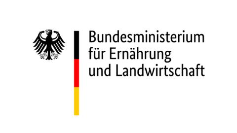 Auf dem Bild ist das Logo des Bundesministeriums für Ernährung und Landwirtschaft zu sehen