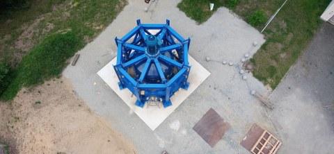 Das Foto zeigt den fertig montierten RKS-Demonstrator von oben betrachtet.