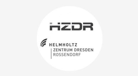 Grafik mit dem Logo des Helmholtz-Zentrum Dresden-Rossendorf