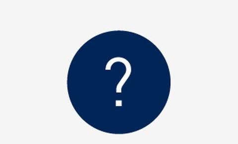 Grafik: in einem blauen Kreis ist ein weißes Fragezeichen zu sehen.