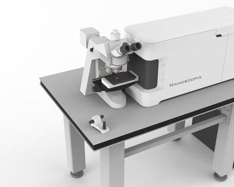 3D-Visualisierung eines Tieftemperatur-Laborgeräts.