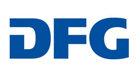 Logo der Deutschen Forschungsgemeinschaft. In blauer Farbe stehen die Großbuchstaben DFG hintereinander.